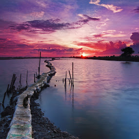 Sunset at Tanjung Burung by Ari Wid - Landscapes Sunsets & Sunrises