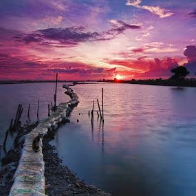 Sunset at Tanjung Burung by Ari Wid - Landscapes Sunsets & Sunrises