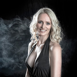 by Chris O'Brien - People Portraits of Women ( woman, beauty, smoke, portrait, blond, body, canon )