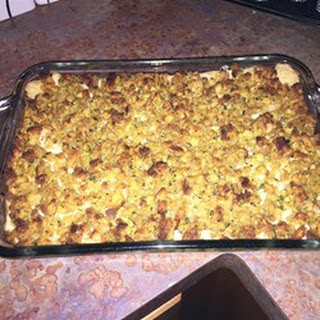 Rotisserie Chicken and Stuffing Casserole