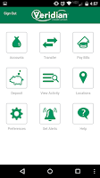 Screenshot of Veridian Mobile Banking