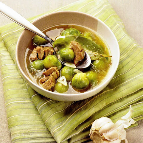 Chicken And Brussel Sprouts Soup