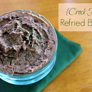 Crock Pot Re fried Beans