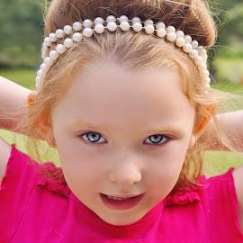 Pearl Hairband by Cheryl Korotky - Babies & Children Child Portraits
