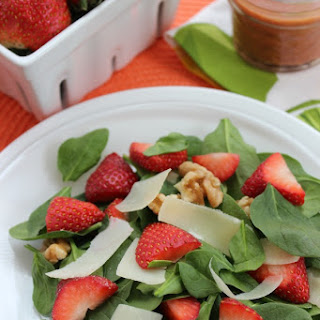Strawberry and Walnut Salad with Strawberry Vinaigrette Dressing