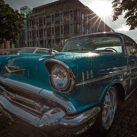 Chevy by Geir Blom - Transportation Automobiles ( car, old car, chevrolet, carshow, sunshine, rain, sun )