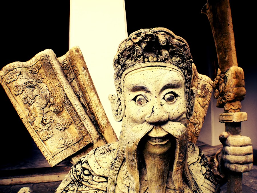 I am looking at you! by Duc Minh - Buildings & Architecture Statues & Monuments ( bangkok, warrior, statue, historical, rusty )