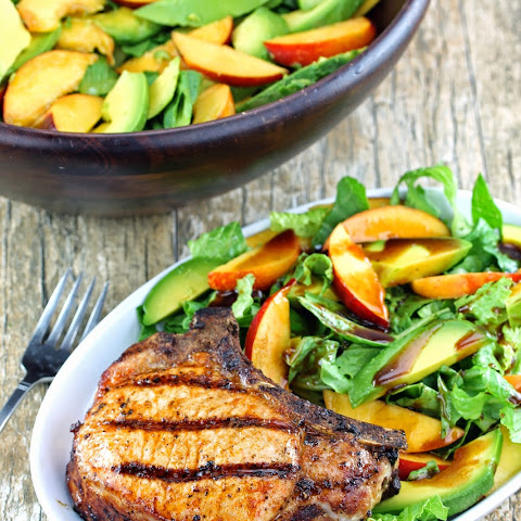 Grilled Pork Chop Salad with Nectarine and Avocado