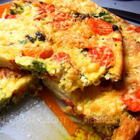 Low calorie vegetable casserole, option for Breakfast
