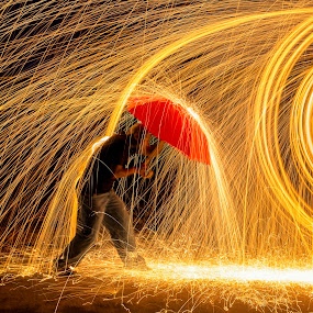 Determination by Ken Smith - Abstract Fire & Fireworks ( steel wool photography )