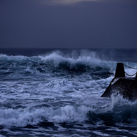 Waiting for the sunrise by Justin Rautenbach - Landscapes Waterscapes