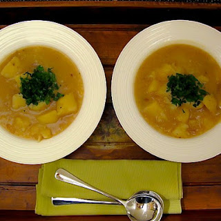 """Happy Peasant"" Garlic and Potato Soup"