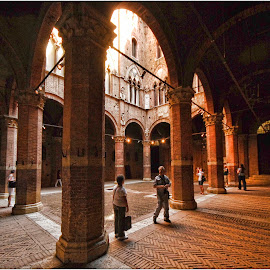 Siena Arches by Annette Flottwell - Buildings & Architecture Public & Historical ( romano, italia, toscana, arches, siena )