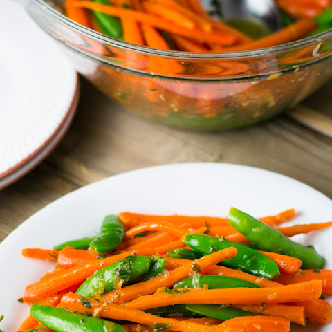 Peas and Carrots with Lemon, Dill, and Mint