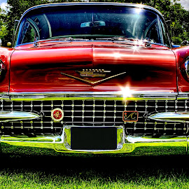 The King by David W Hubbs - Transportation Automobiles ( cool car, cherry car, classic car, old car, colourful cadillac, cool cadillac monster cadillac, cadillac, vintage car, car art,  )