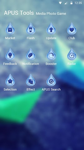 android Blue Raindrops theme for APUS Screenshot 2