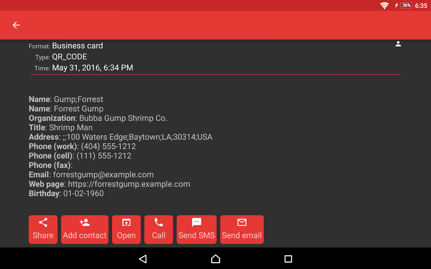 ScanDroid code scanner (PRO) Screenshot 15