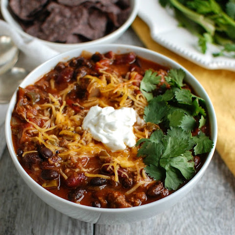 Beef Poblano Black Bean Chili