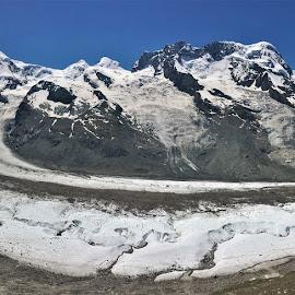 by Phil Bear - Landscapes Mountains & Hills ( zermatt, mountains, alps, switzerland, gorner glacier, glacier, europe )