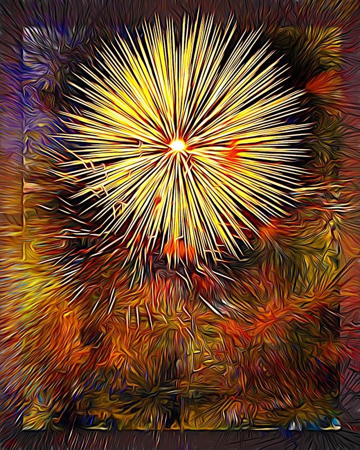 Celebrate by Al Duke - Abstract Fire & Fireworks ( canada, fireworks )
