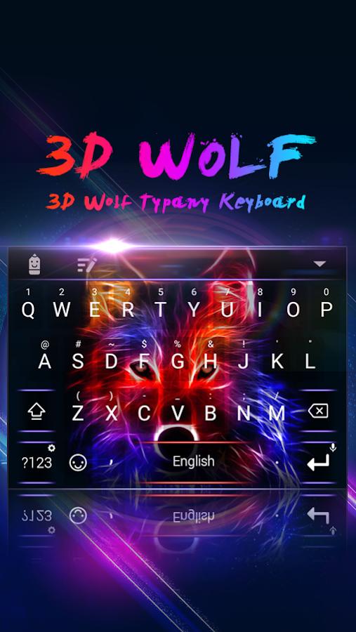 3D Wolf Theme & Emoji Tastatur android apps download