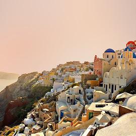 Santorini by Гојко Галић - Buildings & Architecture Public & Historical ( sunset, architecture, cityscape, santorini, city )