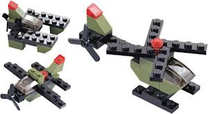 """Конструктор SuperBlock """"Военные маневры"""" Вертолет XS"""