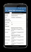 Screenshot of Paris CDG Airport Flights