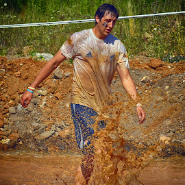 Mud Water by Marco Bertamé - Sports & Fitness Other Sports ( water, amnéville, red, mud, the mudday, drop, france, splaah,  )