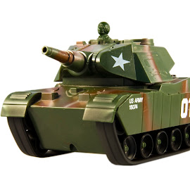 Toy Panzer by Lajos E - Artistic Objects Toys ( army, america, us, tank, usa, united states )