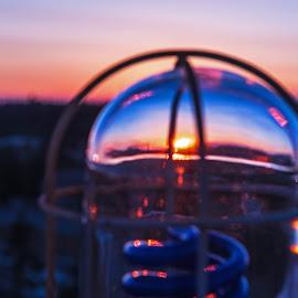 Glass Globe Sunset by Will McNamee - Artistic Objects Other Objects ( mcnamee2169@yahoo.com, gigart@aol.com, danielmcnamee@comcast.net, ronmead179@comcast.net, aundiram@msn.com )