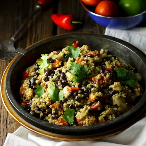Quinoa Black Bean Salad with Lime Cilantro Dressing