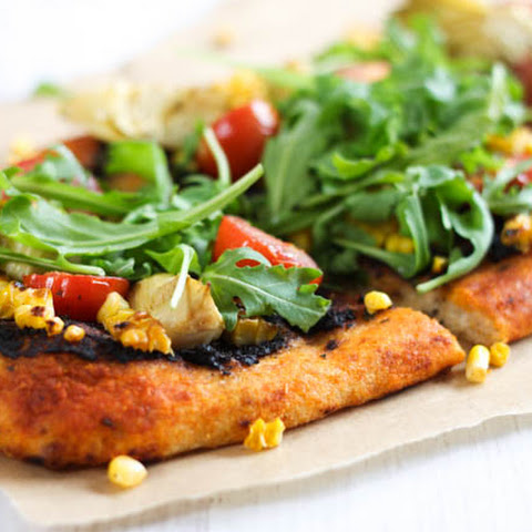 Corn And Artichoke Vegan Pizza