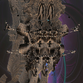 The Tower Of Grog by Rick Eskridge - Illustration Sci Fi & Fantasy ( fantasy, jwildfire, mb3d, fractal, twisted brush )