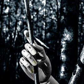 by Staffan Håkansson - Digital Art Things ( hand, sweden, wood, rapsbollen, black )