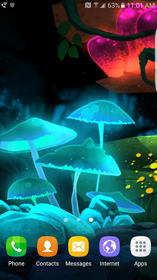 Glowing Jungle Live Wallpaper Screenshot 0