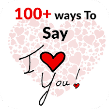100+ ways to say I love you !!