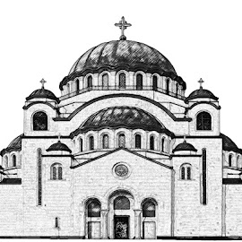 One of the largest Orthodox temples in the world, Belgrade, Serbia by Predrag Videnović - Typography Captioned Photos ( the temple of saint sava, belgrade, serbia )
