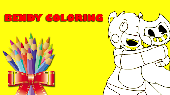 Colouring Games Online Play : Coloring bendy & ink machine » free online games play