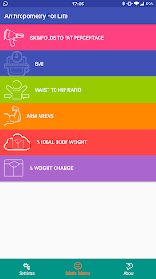Anthropometry For Life Fitness app screenshot for Android