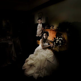 Bride and groom near piano by Kira Likhterova - Wedding Bride & Groom