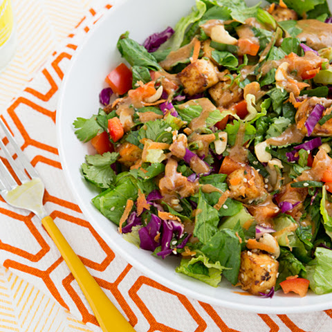 olive caper dressing grilled tofu salad with miso dressing salad with ...