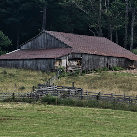 BRP 7-2017 P1019324 by Ross Boyd - Buildings & Architecture Decaying & Abandoned ( mountains, barn, ble ridge parkway, va, rustic )
