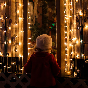 Looking through the window by Kyley Hansen - Public Holidays Christmas ( child, girl, winter, christmas, kid )