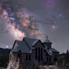 Chapel on the Hill by Andy Taber - Digital Art Places (  )