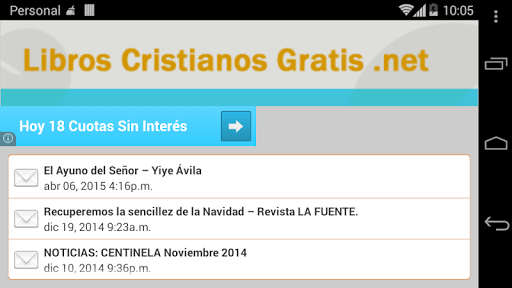 libros-cristianos-gratis for android screenshot