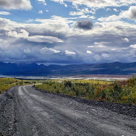 Vast Alaska by Cody Christopher - Landscapes Mountains & Hills ( mountains, backcountry, nowhere, outdoors, road, alaska, wilderness, old road, backroad )