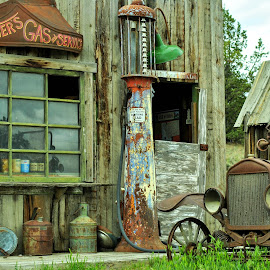 When times where Booming by Jodie Lindbo - Buildings & Architecture Decaying & Abandoned ( oregon, antique, old general store, abandoned, antiques )