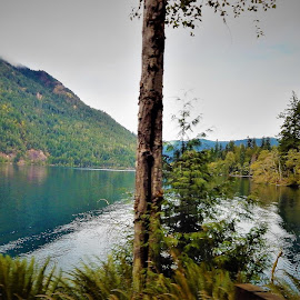 Crescent Lake by Lavonne Ripley - Landscapes Waterscapes