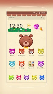 Colorful Cartoon Bear- screenshot